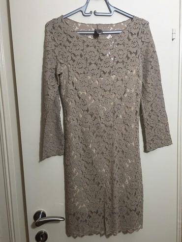 Please - Srbija: Cipkana haljina please, vel m, ima postavu ispod, duzina 90cm,nosena