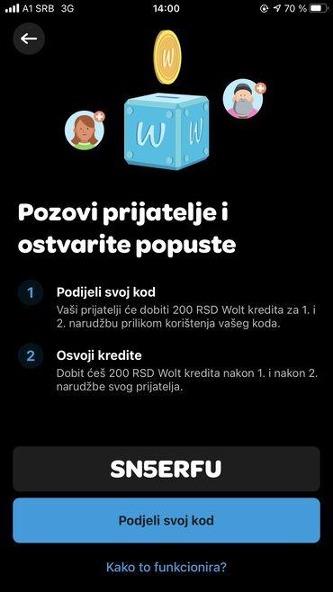4 oglasa   ZAPOSLENJE: Preuzmi aplikaciju Wolt i ukucaj moj promo kod SN5ERFU za specijalni p