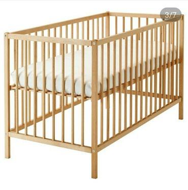 produkcii ikea в Кыргызстан: Детская кроватка от IKEA,модель Сниглар,бук,60*120