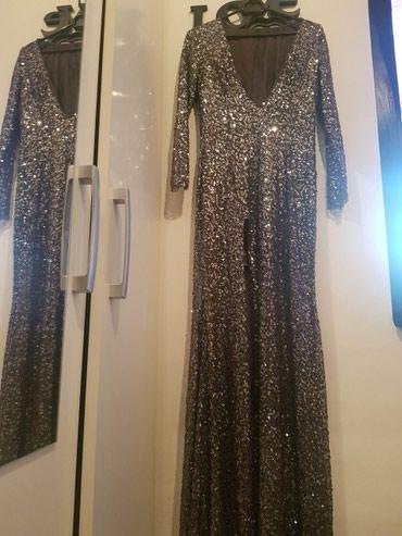 Duga sljokicasta svecana haljina XS - Uzice