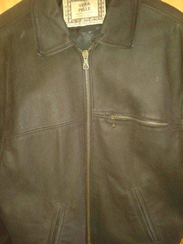 Muska kozna jakna, kupljena u cotton-u, velicina l, malo nosena, bez - Vrbas