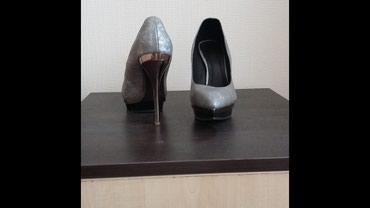 Туфли на высоком каблуке из натуральной кожи38 размер, высота каблука