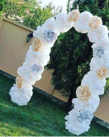 Rajska vrata za svadbu.Konstrukcija+cvece.Sve je na rasklapanje I od - Rumenka