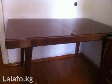 Стол обеденн нат орех полиров ст модерн гарн ЧССР разм станд - 130(+50