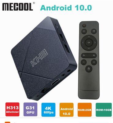 wifi приемник для телевизора в Кыргызстан: Акция! Тв бокс.Mecool kh3 android 10.0 smart 4k 60fps tv box - черный