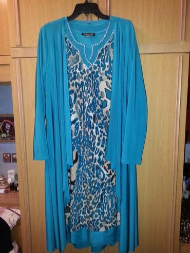 Платье с накидкой, надето 1 раз, в отличном состоянии разм.48-50 в Бишкек
