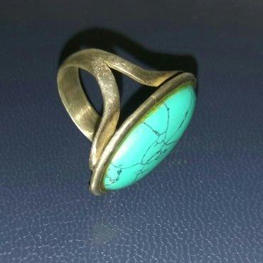 продаю серебряное кольцо с бирюзой (ручной работы, камень натуральный  в Бишкек