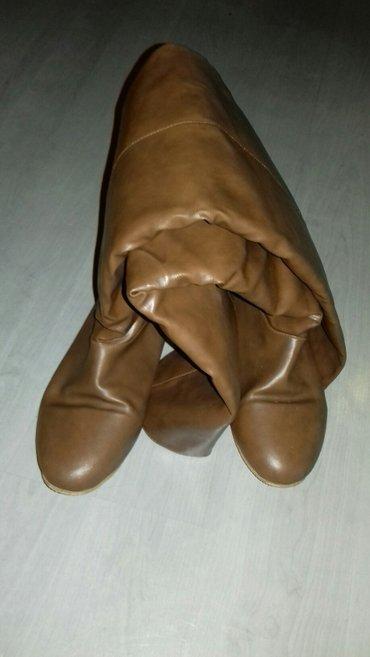 Cizme kamel boje broj 38,iznad kolena,postavljene u super stanju! - Nis