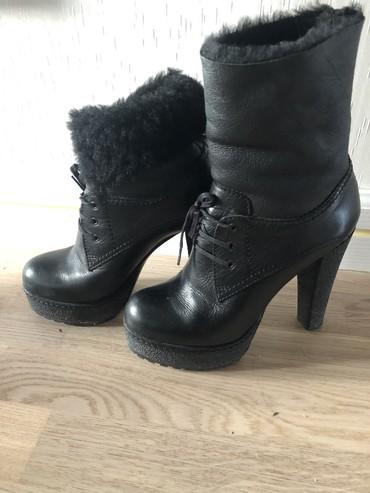 Ботильоны в Кыргызстан: Зимние получсапоги Итальянские стильные! Удобные ботиночки натуральная