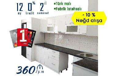 Mətbəx mebeli - 360 azn/ poqon metrəsi̇ nəğd satışa 10 %