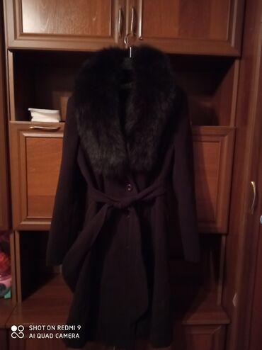 Продаю пальто зимняя Кашмир размер 52 воротник натуральный мех