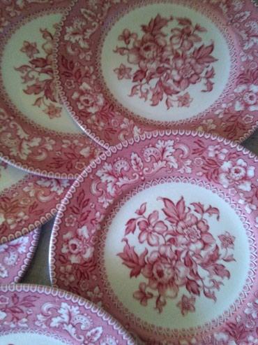 Kuhinjski setovi | Sombor: Engleski porculan 6 tanjirica za kolace staro ali ocuvano