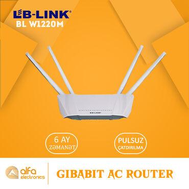 Lb-Link BI-W1220M routeri 1200 Mbps şəbəkə sürətinə malikdir. 4k və