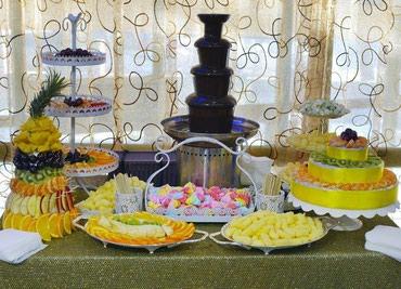 Шоколадный фонтан + фруктовые нарезки! Фигурные конструкции и премиум