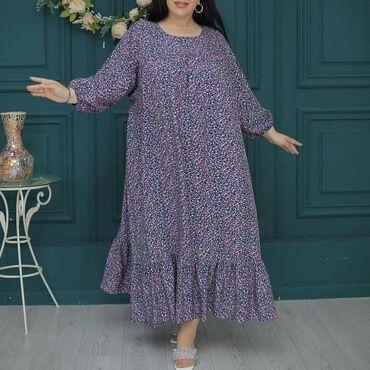 платья из штапеля бишкек в Кыргызстан: Платье oversizeткань:натуральный штапель 100 %