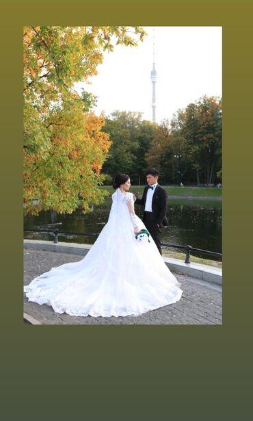 аксессуары для пубг мобайл в Кыргызстан: Продам свадебное платье шикарное цвет Айвори одела только сама один ра