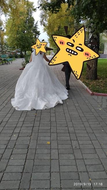 Продам свадебное платье, цвет  light ivory, в Кок-Ой