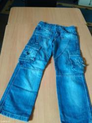 Dečije Farmerke i Pantalone | Batajnica: Novopazarske kao nove farmerice za decaka velicina 6 imaju gumu za