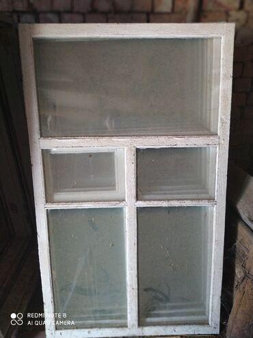Окна деревянные выс.160см/Шир.100см с коробкой. стеклы целые. 8