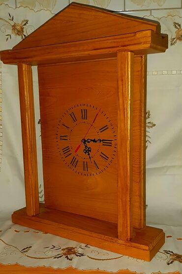 Zuta sujnjica svega dva struk cm - Srbija: Drveni sat ručni rad 40 cm × 50 cm