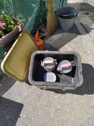 Ведра в Кыргызстан: Термос пищевой, полевой 20-ти литровый с 7-ю чашками. Цена договорная