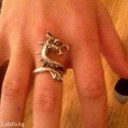 Кольцо дракон Под серебро в Бишкек