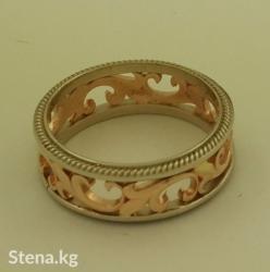Эксклюзивное обручальное кольцо с белым золотом. в Бишкек