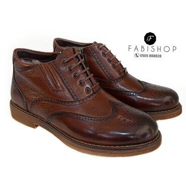 Зимние кожаные ботинки. Мех натуральный
