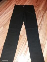 Crne pantalone sa belim prugama vel m/l - Svilajnac