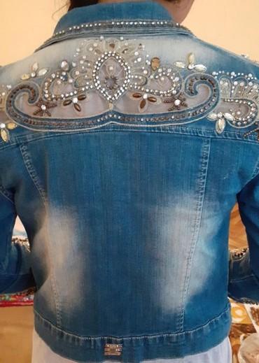 детская джинсовая куртка в Кыргызстан: Джинсовая куртка ручная работа отличное качество Турция