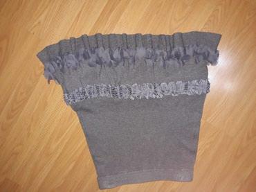 Trikotazna-pamuk - Srbija: Trikotazna,interesantna suknja. struk 36 cm,duz.54 cm