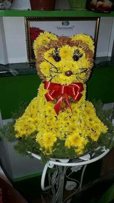 Оригинальный букет -игрушка из цветов в Бишкек
