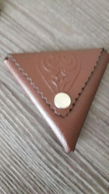 Кожанная монетница с арнаментом 350 сом