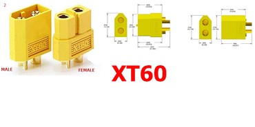 XT60 konektor 1 par muško/žensko - Novi Sad