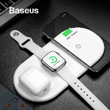 универсальное зарядное в Азербайджан: Baseus wireless charger 3in 1Original baseus firmasindan simsiz