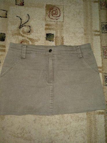 Джинсовая юбка, стиль милитари, размер 44, как новая