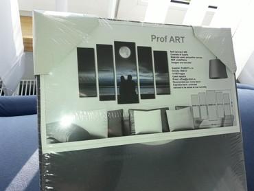 Ostalo | Varvarin: Slika iz pet delova,zalazak sunca,u sivim tonovima,kupljena u
