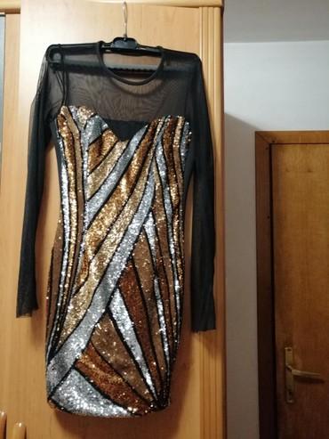 Prelepa sljokicava haljina, jednom nosena!!! Cena 1.500,00 din - Indija