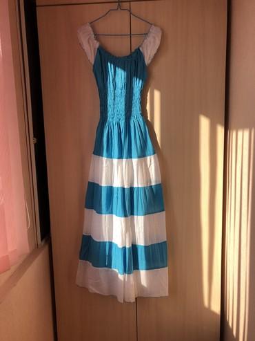 Летний сарафанчик нежно голубово цвета, ткань очень легая и приятная н