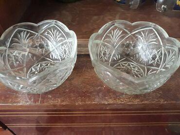 Антикварные вазы - Кыргызстан: Хрусталь большие по 50, маленькие 30 за 170 всех отдам