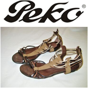 Gladijator - Srbija: *** PEKO *** kozne sandale 38,gaziste 25 cmSandale poznatog brenda