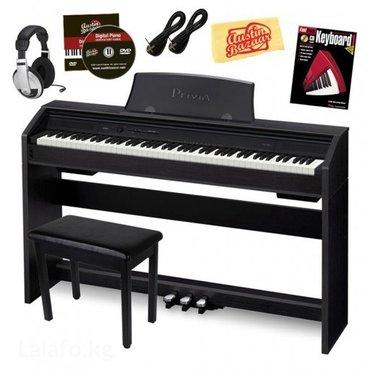 пианино casio px-760 bk. в идеальном состоянии. с телескопическим стул в Бишкек