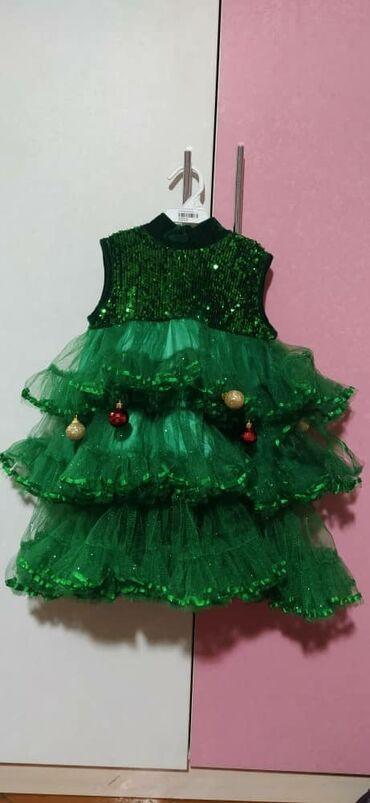 Новогоднее платье(костюм елочки),на 3 года,состояние отличное