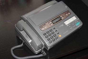 Телефонов факсов - Кыргызстан: Продается факс-телефон Panasonic KX750, состояние отличное, работает