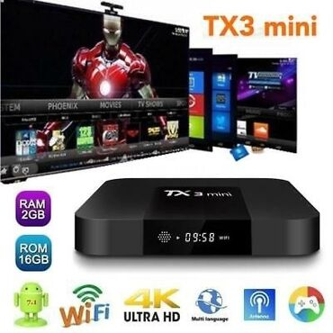 android tv в Азербайджан: Android Smart TV Original Tv Box Tx3 mini. Android sistem. 2GB ram - 1
