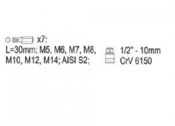 Htc one m8 16gb glacial silver - Srbija: Set ribe ključevi M5-M14, 8 kom za FRIBE 30mm: M5, M6, M7, M8, M10