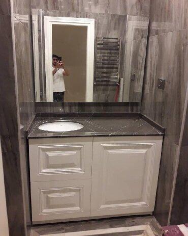 Xırdalan şəhərində Moydadir duş kabin ara kesme mermer sünü mermer vanna padon cakuzi