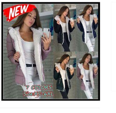 Kratka jakna sa krznom S,M,L,XL,2XL,3XL,4XL,5XL PLACANJE u DVA puta !