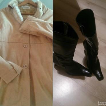 Carini jakna sa krznom 42 i kozne cizme br.40 - Belgrade