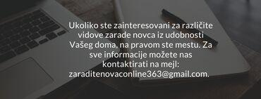 Dajem posao - Kragujevac: Zaradite novac od kuće iz udobnosti Vašeg domaUkoliko ste